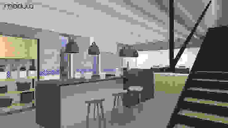 DOM w górach Skandynawska kuchnia od MODULO Pracownia architektury wnętrz Skandynawski