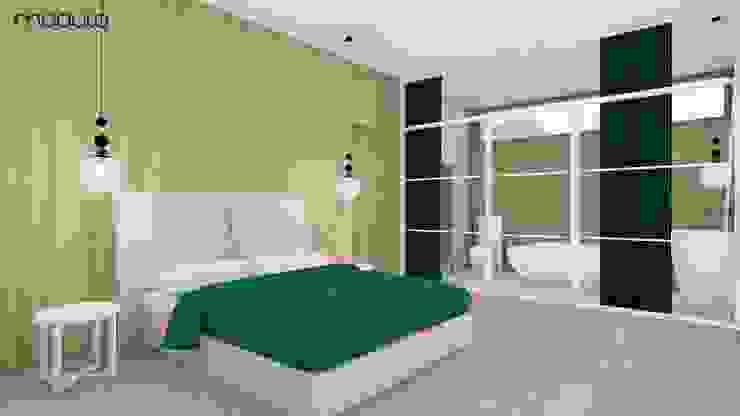 DOM w górach Skandynawska sypialnia od MODULO Pracownia architektury wnętrz Skandynawski