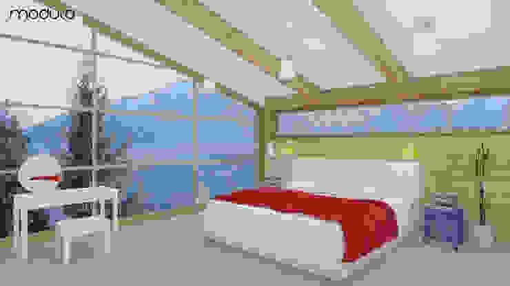 DOM w górach MODULO Pracownia architektury wnętrz Skandynawska sypialnia
