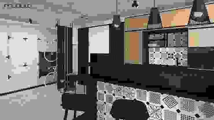 MIESZKANIE w stylu industrialnym Industrialna kuchnia od MODULO Pracownia architektury wnętrz Industrialny