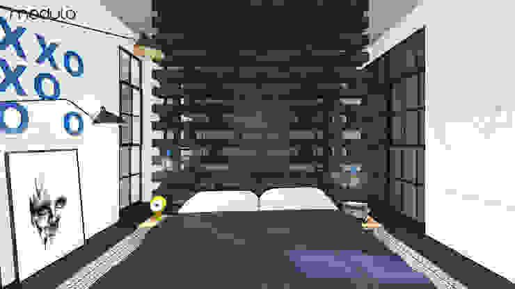 โดย MODULO Pracownia architektury wnętrz อินดัสเตรียล