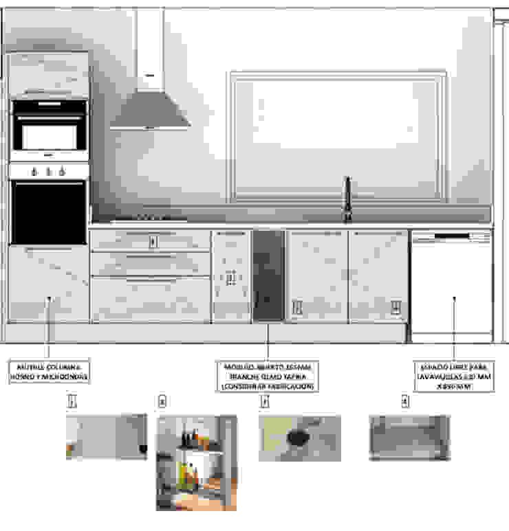 Diseño Arquitectura Cocina Premium Casa Lt37 de Territorio Arquitectura y Construccion - La Serena