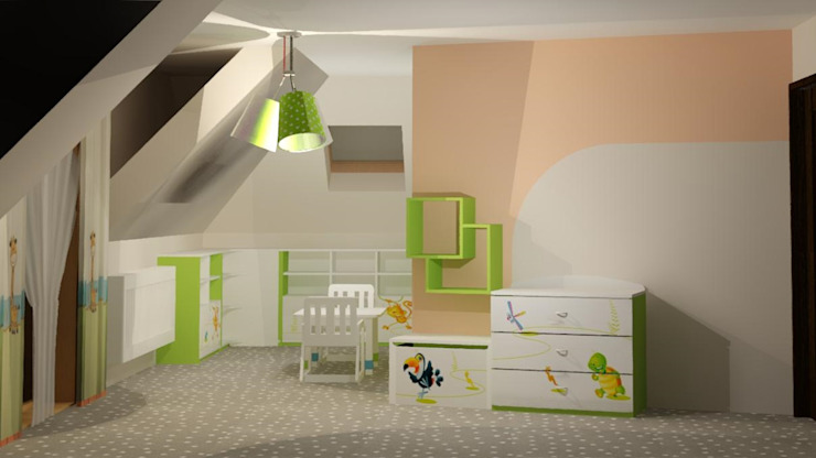 Kamar Bayi/Anak Modern Oleh 3D Interior Studio Projektowania Wnętrz Modern