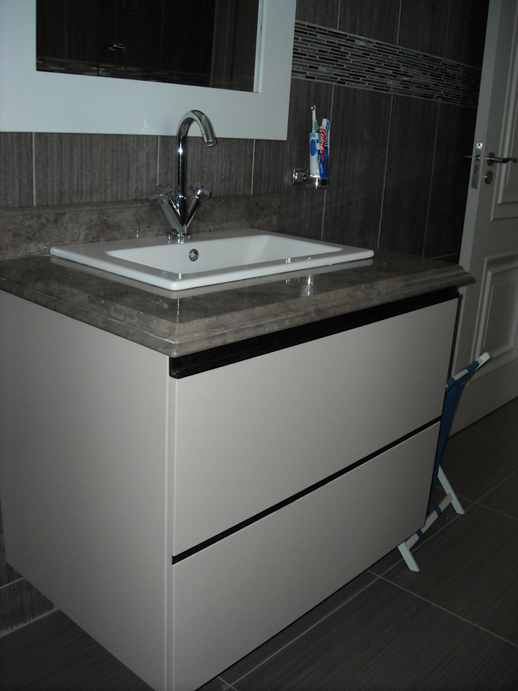 Vanity for bathroom 2 Eclectic style bathroom by CKW Lifestyle Associates PTY Ltd Eclectic MDF