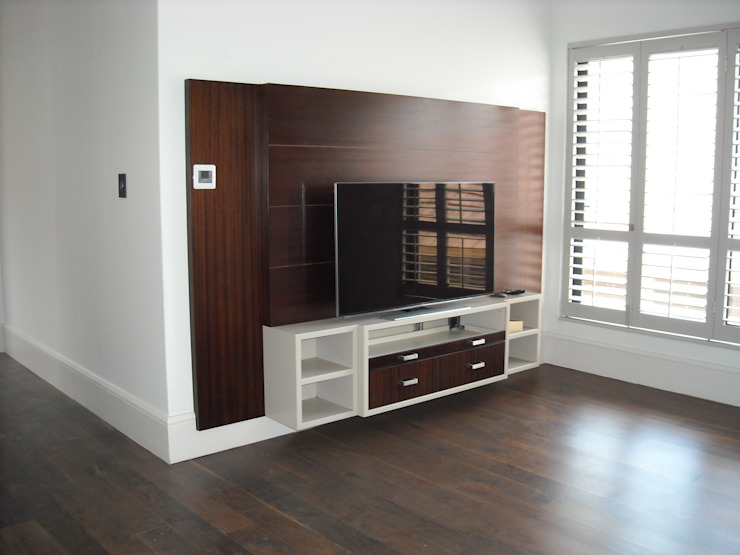 Pyjama lounge TV Unit Eclectic style media rooms by CKW Lifestyle Associates PTY Ltd Eclectic Solid Wood Multicolored