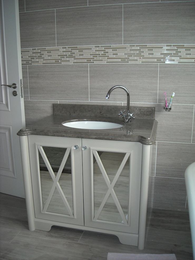 Bathroom Vanity in Bathroom 3 & 4 Eclectic style bathrooms by CKW Lifestyle Associates PTY Ltd Eclectic Wood Wood effect
