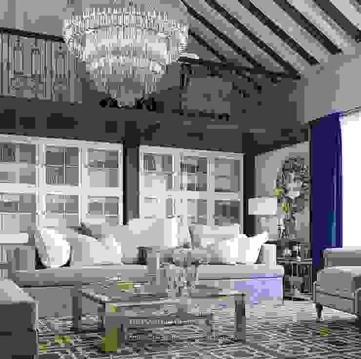 ห้องนั่งเล่น โดย Архитектурное бюро «Парижские интерьеры»,