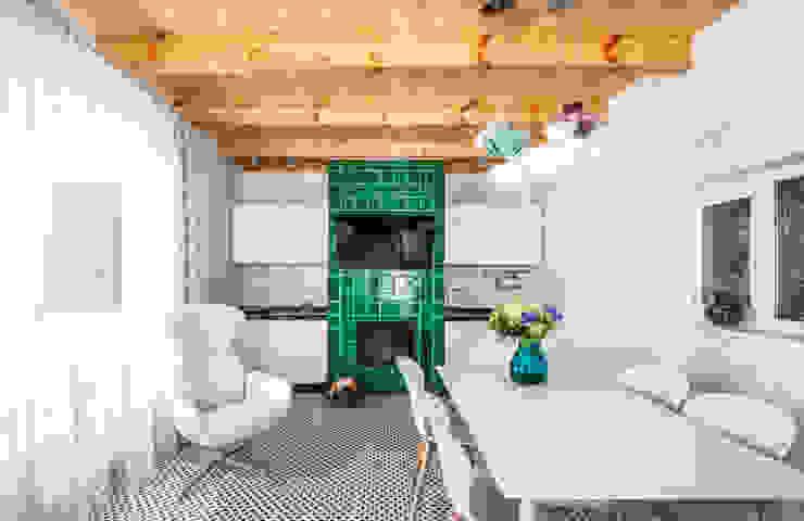 Irina Derbeneva Salon minimaliste Turquoise