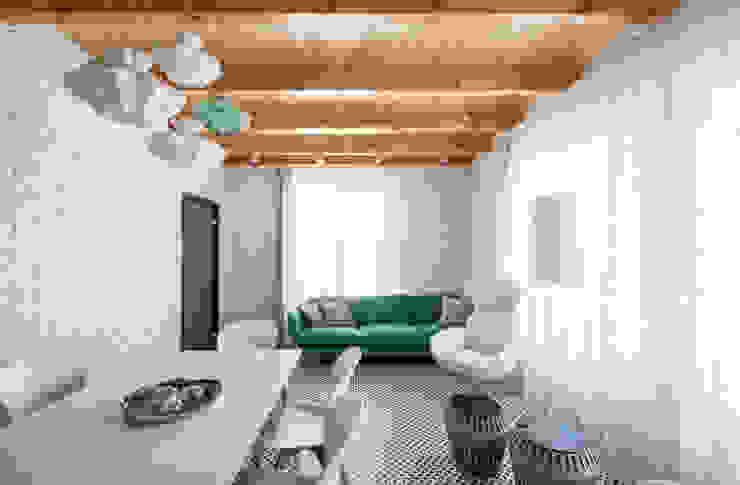 Irina Derbeneva Salones de estilo minimalista Turquesa
