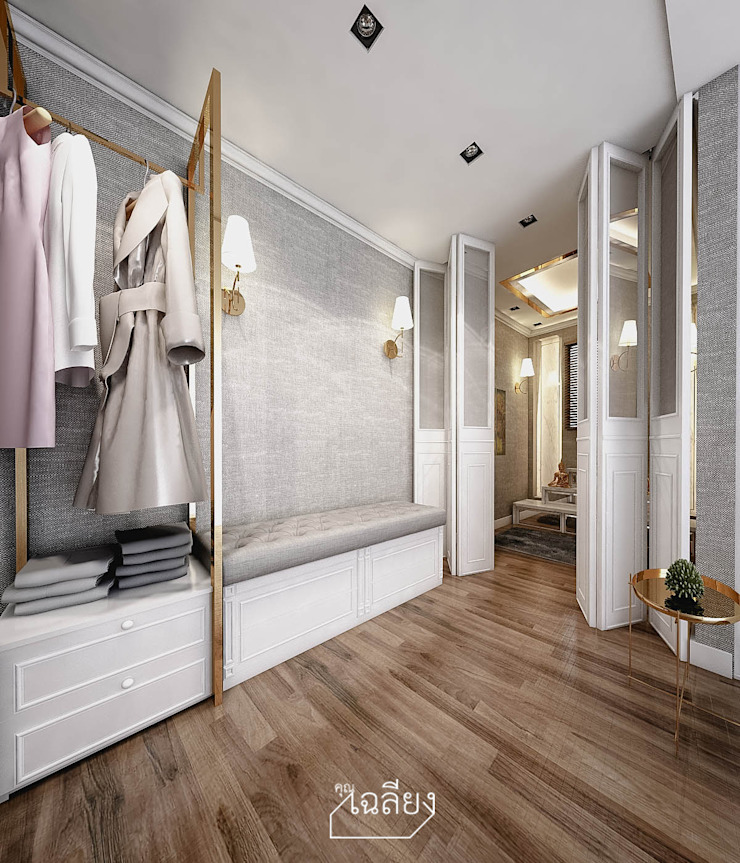 Home Renovate - Baan Klangmuang Pinklao-Charan ห้องโถงทางเดินและบันไดสมัยใหม่ โดย คุณเฉลียง - ออกแบบตกแต่งภายใน โมเดิร์น