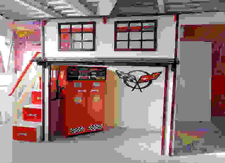 Sorprendente litera tipo Garage Retro de Kids Wolrd- Recamaras Literas y Muebles para niños Clásico Derivados de madera Transparente