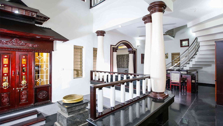 Interior Designing Firm in Kerala Asian style living room by Monnaie Interiors Pvt Ltd Asian