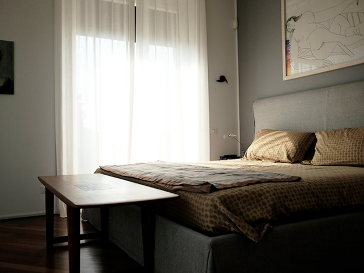 studionove architettura Classic style bedroom Grey