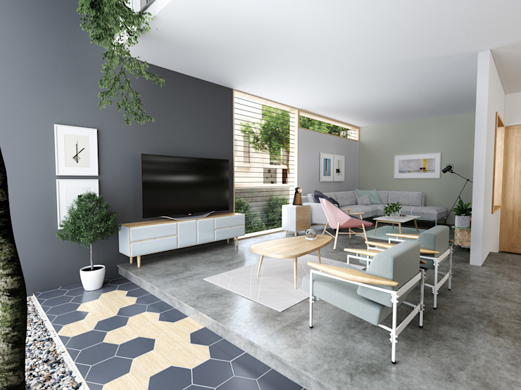 House 516 Studio Gritt Scandinavian style living room