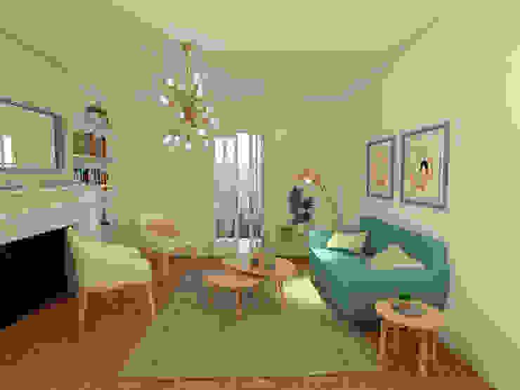 Mid century moderno - Living y Comedor Livings de estilo escandinavo de MM Design Escandinavo