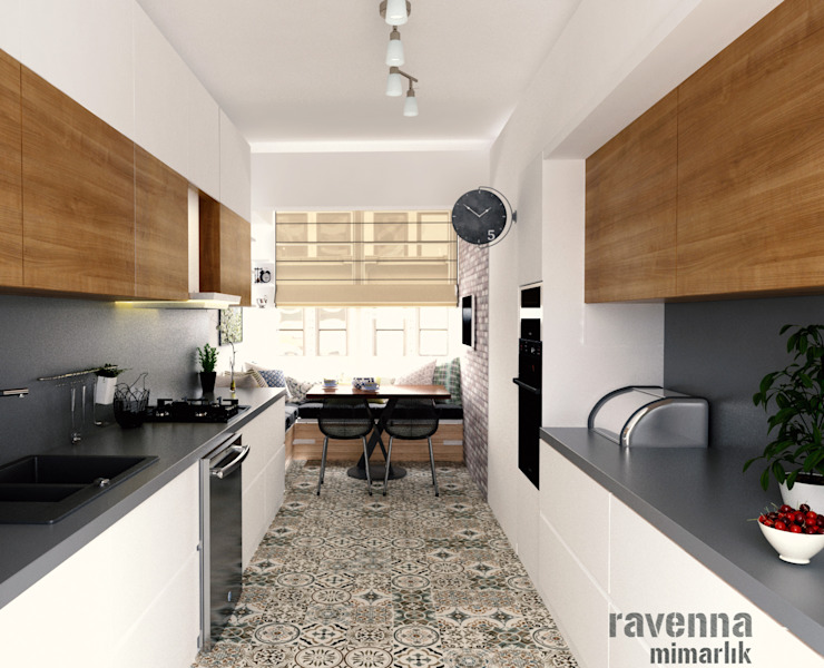 Ravenna Mimarlık Restorasyon – Mutfak:  tarz Mutfak, Modern Ahşap Ahşap rengi