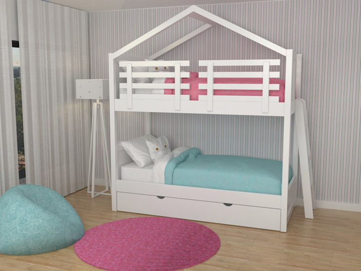 Oficina Rústica Nursery/kid's roomBeds & cribs Wood White