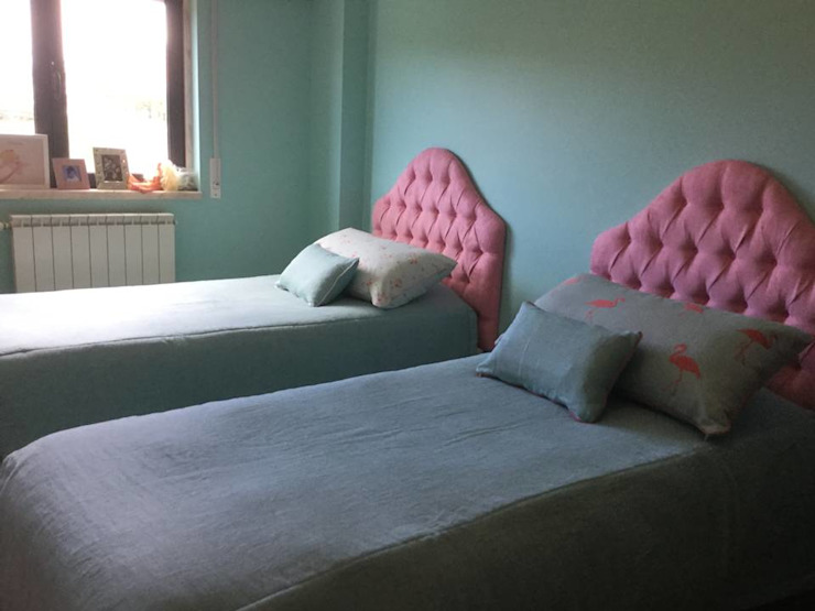 Oficina Rústica Nursery/kid's roomBeds & cribs Tekstil Pink
