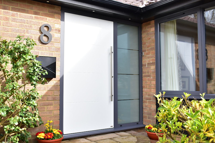 General Images RK Door Systems Front doors Aluminium/Zinc White