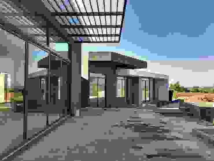 CASA PR Balcones y terrazas modernos de 12.20 Estudio de Arquitectura Moderno Piedra