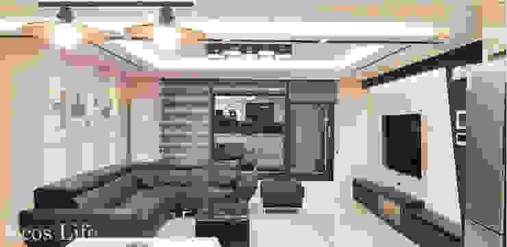 Salas de estilo moderno de 인테리1 Moderno Azulejos