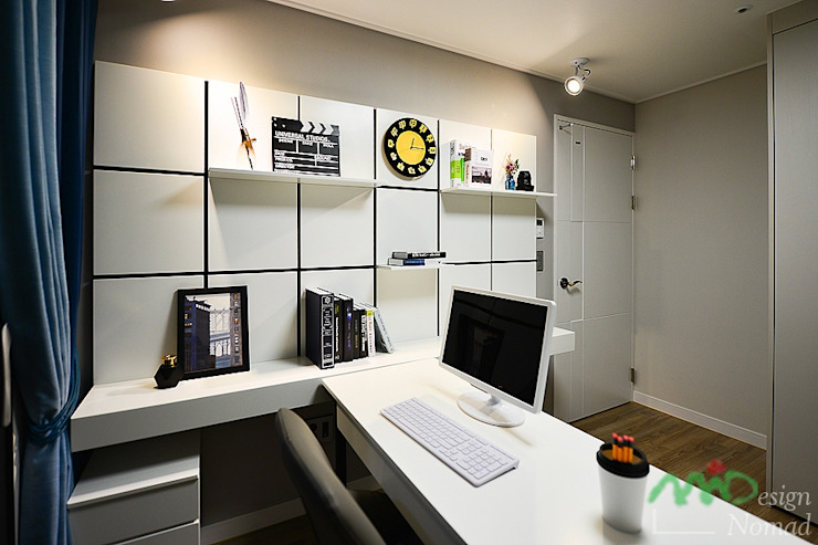 Scandinavian style study/office by homify Scandinavian