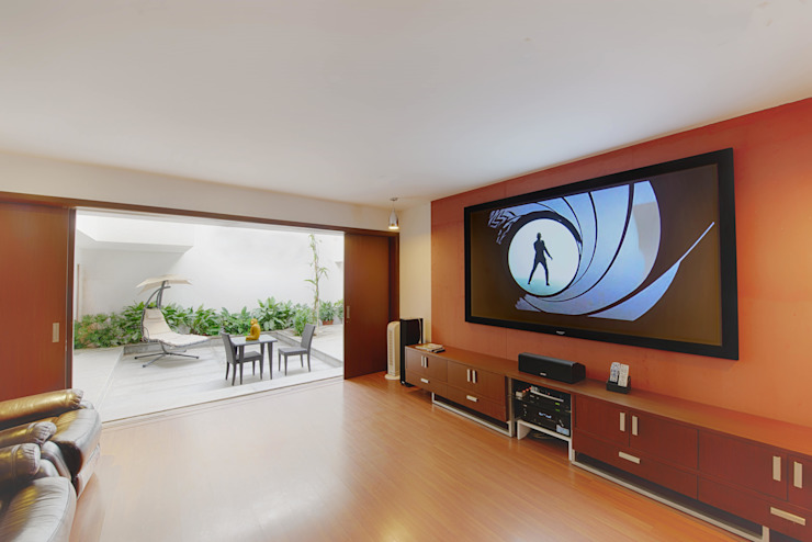 Mobius Modern living room by Architecture Continuous Modern