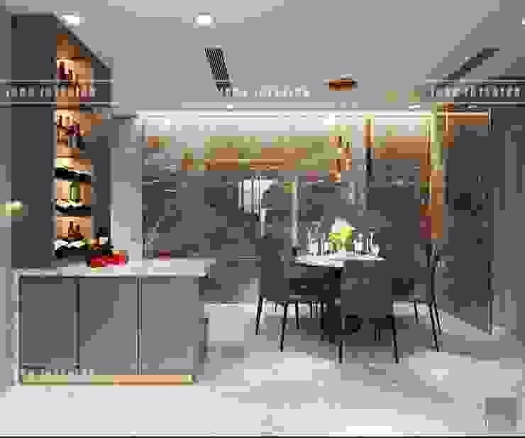 THIẾT KẾ NỘI THẤT HIỆN ĐẠI: VẺ ĐẸP CỦA NỘI THẤT ÁNH KIM Phòng ăn phong cách hiện đại bởi ICON INTERIOR Hiện đại