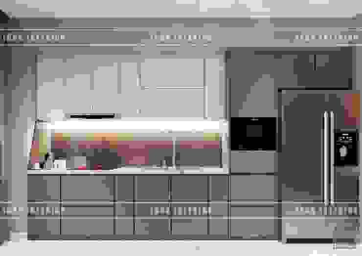 THIẾT KẾ NỘI THẤT HIỆN ĐẠI: VẺ ĐẸP CỦA NỘI THẤT ÁNH KIM Nhà bếp phong cách hiện đại bởi ICON INTERIOR Hiện đại