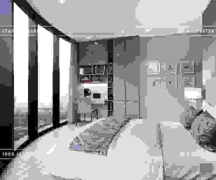 THIẾT KẾ NỘI THẤT HIỆN ĐẠI: VẺ ĐẸP CỦA NỘI THẤT ÁNH KIM Phòng ngủ phong cách hiện đại bởi ICON INTERIOR Hiện đại