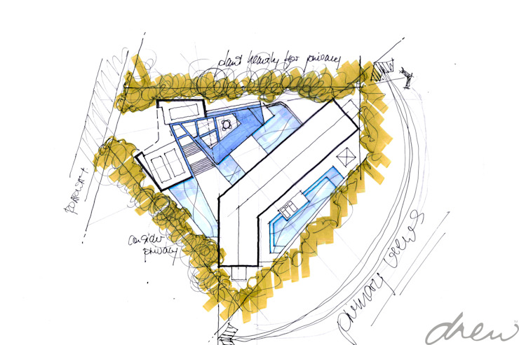 new clifftop beach house: modern  by drew architects + interiors, Modern
