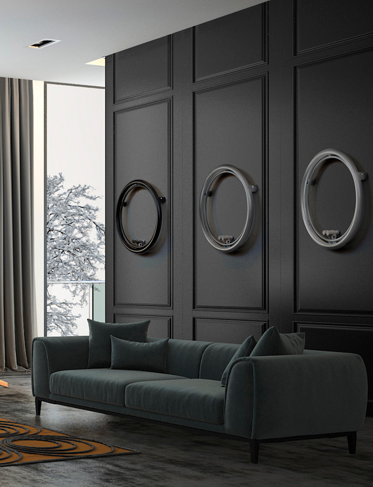 SCIROCCO H 客廳壁爐與配件 鐵/鋼 Grey