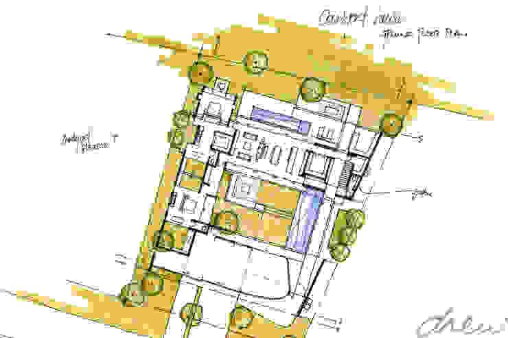 new house linger longer: modern  by drew architects + interiors, Modern