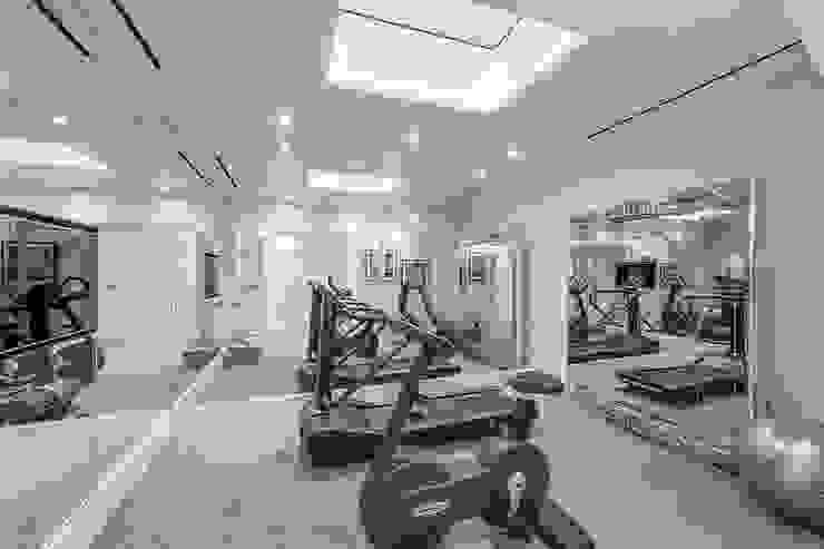Basement - Gym Conversion SJ Construction London Modern gym