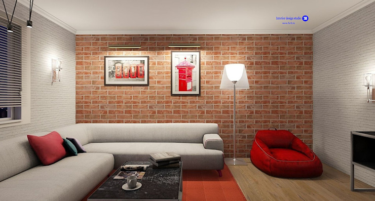 Living room in Loft style by 'Design studio S-8' Industrial