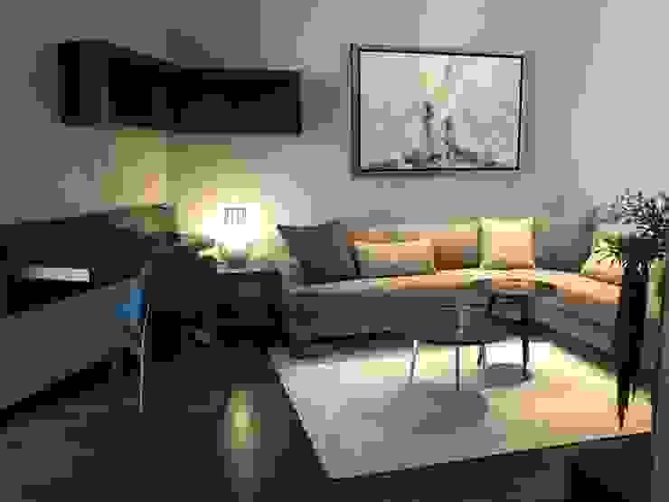 Modern Media Room by De Firma Muebles Modern Wood Wood effect