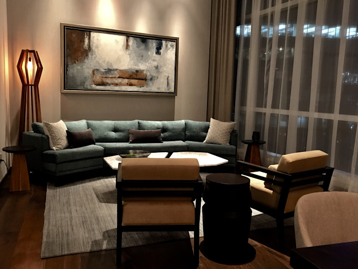 Modern Living Room by De Firma Muebles Modern Marble