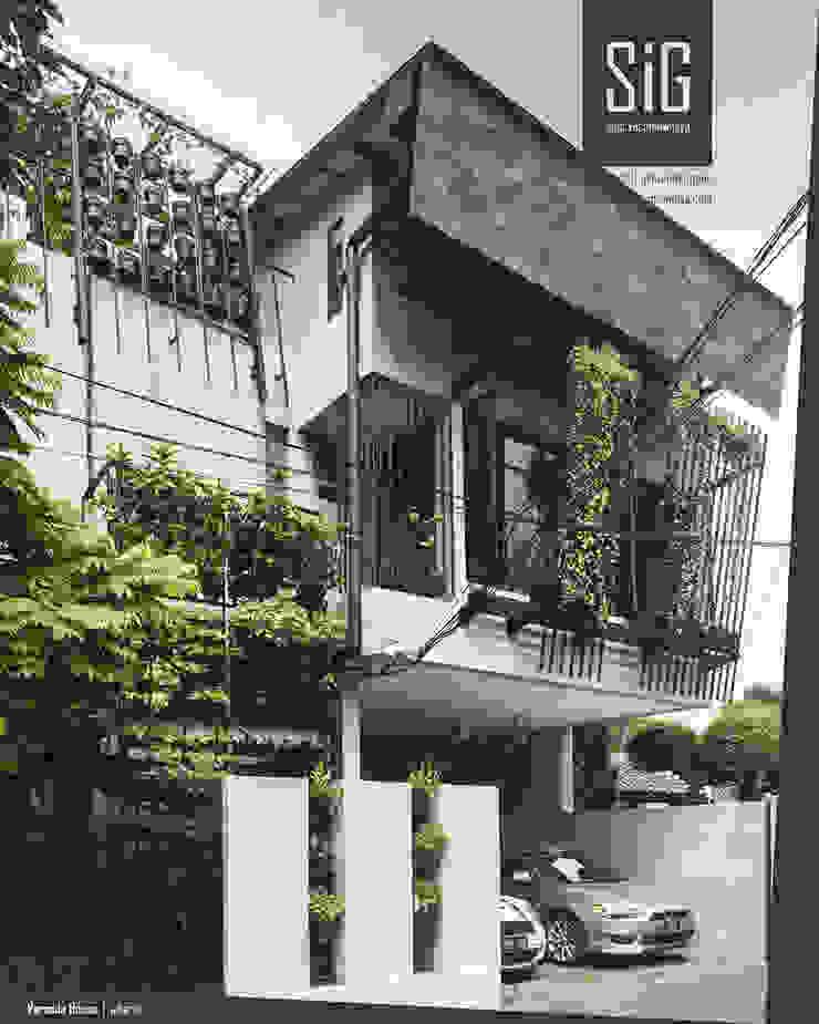 Rumah Beranda - Green Boarding House Oleh sigit.kusumawijaya | architect & urbandesigner Industrial Besi/Baja