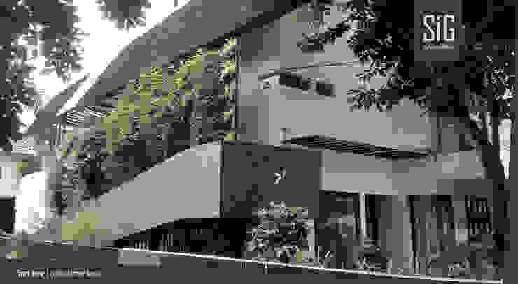 Rumah Kebun Mandiri Pangan (Food Self-Sufficiency House) Oleh sigit.kusumawijaya | architect & urbandesigner Minimalis Beton