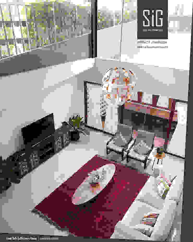 Rumah Kebun Mandiri Pangan (Food Self-Sufficiency House) Ruang Keluarga Minimalis Oleh sigit.kusumawijaya | architect & urbandesigner Minimalis