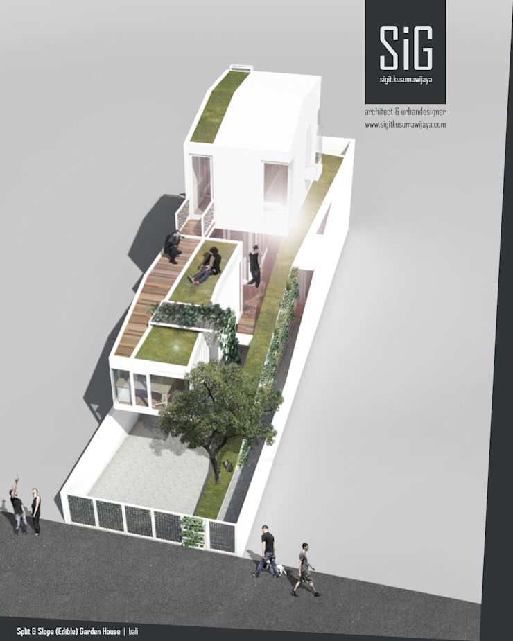 Split & Slope (Edible) Garden House Oleh sigit.kusumawijaya | architect & urbandesigner Industrial