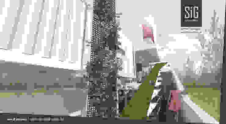 Split & Slope (Edible) Garden House Koridor & Tangga Gaya Industrial Oleh sigit.kusumawijaya | architect & urbandesigner Industrial