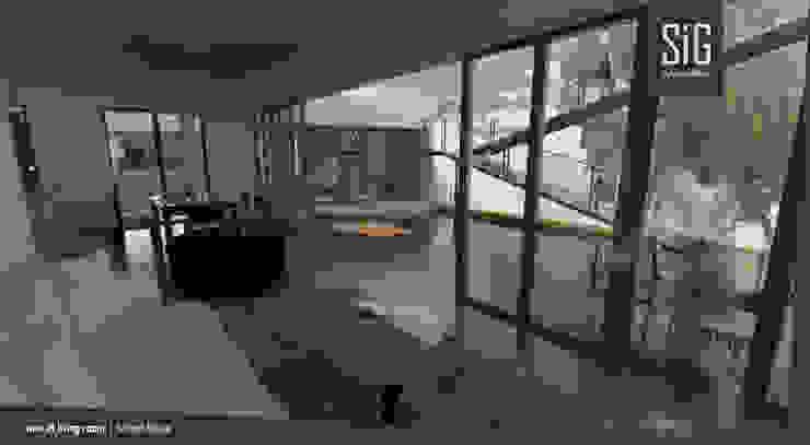 Borneo House Ruang Keluarga Minimalis Oleh sigit.kusumawijaya | architect & urbandesigner Minimalis