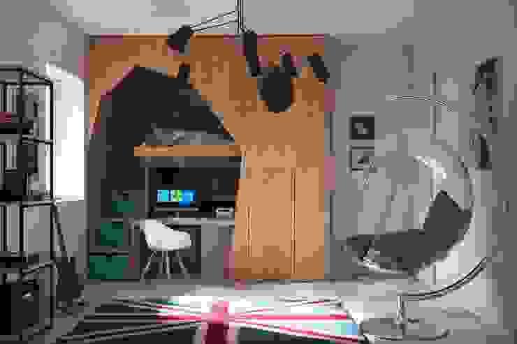 Giardino D'inverno e ristrutturazione Camera da letto in stile scandinavo di Alfredo Pulcrano Scandinavo