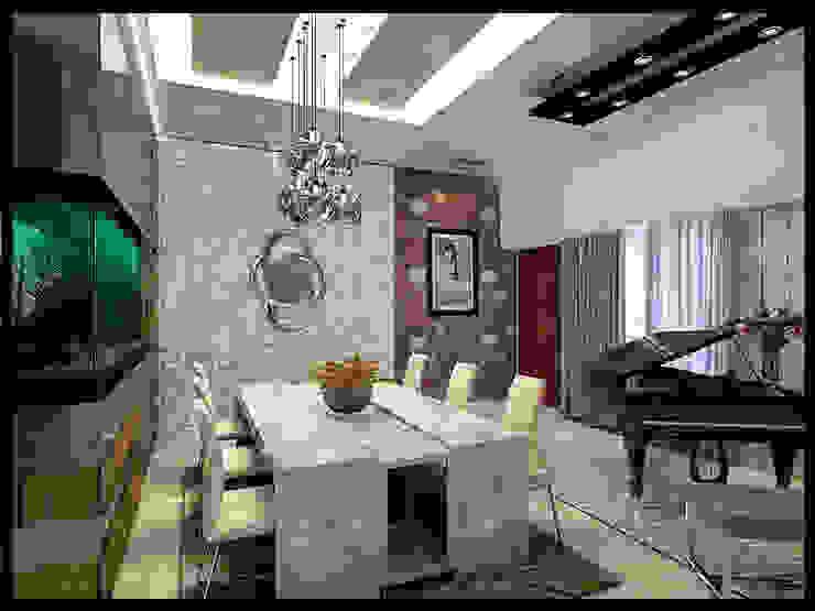 Perumahan Nusa Dua Interior Ruang Makan Modern Oleh VaDsign Modern Kayu Wood effect