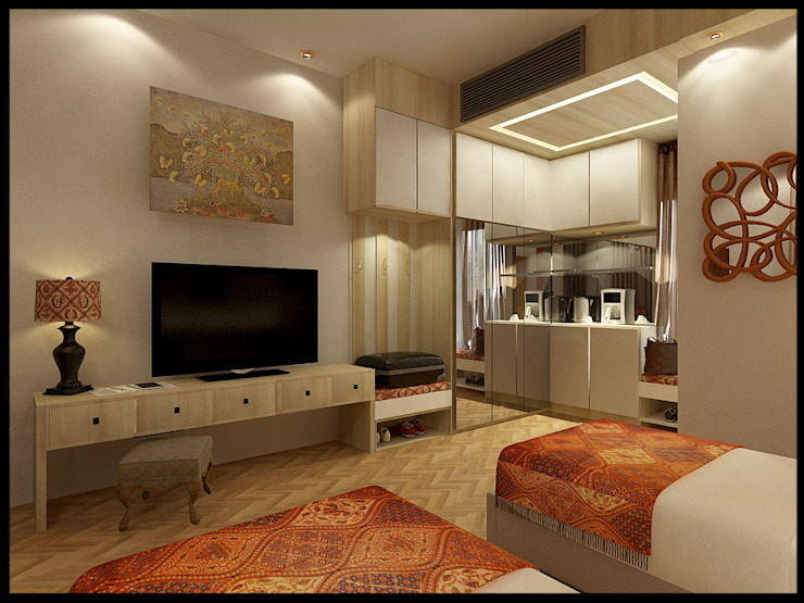 Hotel Bali Kamar Tidur Modern Oleh VaDsign Modern Kayu Wood effect