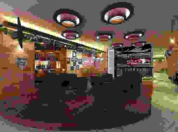 Karaoke entrance and public hall Koridor & Tangga Modern Oleh VaDsign Modern Kayu Wood effect