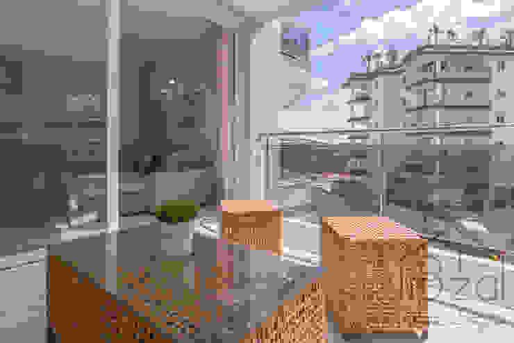 ROX & IRE IBIZA SL Mediterranean style balcony, veranda & terrace