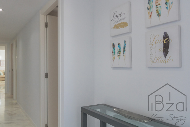 ROX & IRE IBIZA SL Mediterranean style corridor, hallway and stairs