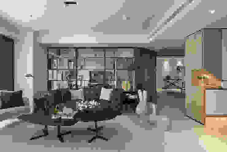 微光 现代客厅設計點子、靈感 & 圖片 根據 Fertility Design 豐聚空間設計 現代風